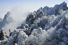 Supporto Huangshan nell'inverno Immagine Stock
