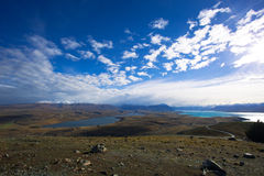 Supporto John Looking Towards Aoraki Mt cuoco Fotografia Stock Libera da Diritti