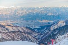 supporto Kiso-Komagatake, alpi centrali, Nakano, Giappone Immagini Stock