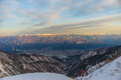 supporto Kiso-Komagatake, alpi centrali, Nakano, Giappone Fotografie Stock Libere da Diritti
