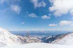 supporto Kiso-Komagatake, alpi centrali, Nakano, Giappone Immagini Stock Libere da Diritti