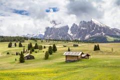 Supporto Langkofel Sassolungo nelle dolomia del Tirolo del sud,  Fotografia Stock Libera da Diritti