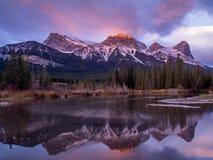 Supporto Lawrence Grassi, Canmore Alberta Fotografie Stock Libere da Diritti