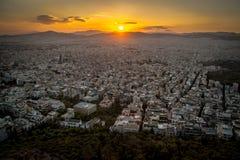 Supporto Lycabbetus, Atene Fotografia Stock Libera da Diritti