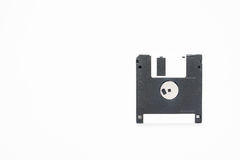 Supporto magnetico a disco magnetico di archiviazione di dati del computer su bianco Fotografie Stock Libere da Diritti