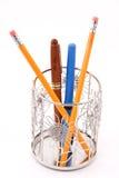 Supporto metallico della matita della margherita Immagine Stock