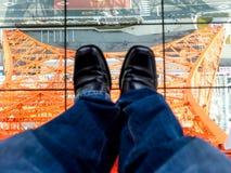 Supporto nella torre di Tokyo Fotografia Stock Libera da Diritti
