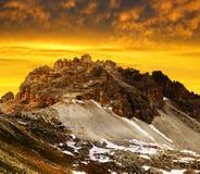 Supporto Paternkofel nel Tirolo del sud, Italia Fotografia Stock Libera da Diritti