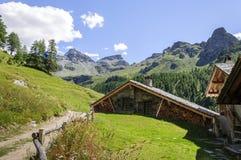 Supporto Perrin di Cuneaz (la valle d'Aosta - Italia del nord) Immagine Stock Libera da Diritti