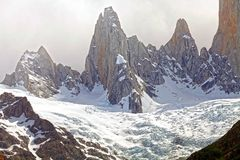 Supporto Poicenot al parco nazionale di Los Glaciares, Argentina Immagini Stock Libere da Diritti