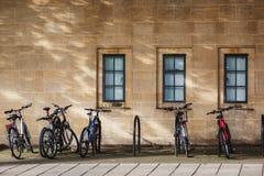 Supporto Regno Unito della bicicletta degli studenti Fotografia Stock Libera da Diritti