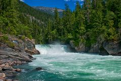 Supporto Robson Provincial Park di cadute di Overlander BC Fotografie Stock