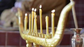 Supporto tailandese della candela archivi video