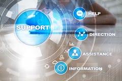 Supporto tecnico Aiuto del cliente Concetto di tecnologia e di affari fotografia stock libera da diritti