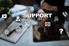 Supporto tecnico Aiuto del cliente Concetto di tecnologia e di affari immagini stock
