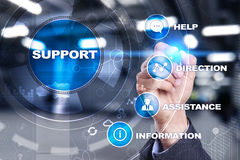 Supporto tecnico Aiuto del cliente Concetto di tecnologia e di affari immagine stock
