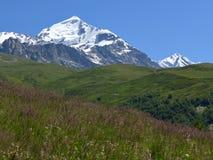Supporto Tetnuldi, Caucaso georgiano fotografie stock libere da diritti