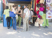 Supporto turistico di mostra di visita durante il carnevale malgascio Fotografie Stock