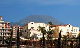 Supporto Vesuvio del vulcano da Ercolano fotografia stock libera da diritti