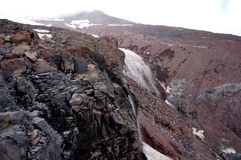 Supporto vicino Kazbeg del ghiacciaio di Gorgeus Fotografie Stock Libere da Diritti