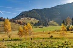 Supporto vicino Rigi, alpi del paesaggio stupefacente di autunno, Fotografie Stock Libere da Diritti