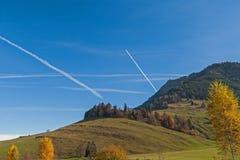 Supporto vicino Rigi, alpi del paesaggio stupefacente di autunno, Fotografia Stock Libera da Diritti