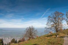 Supporto vicino Rigi, alpi del paesaggio stupefacente di autunno, Immagini Stock Libere da Diritti