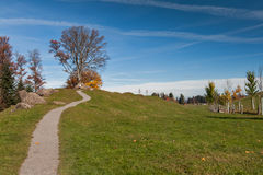 Supporto vicino Rigi, alpi del paesaggio stupefacente di autunno, Fotografia Stock