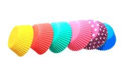 Supports colorés de petit gâteau Images stock