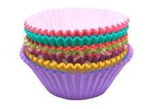 Supports colorés de petit gâteau Image libre de droits