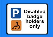 Supports d'insigne handicapés seulement Image libre de droits