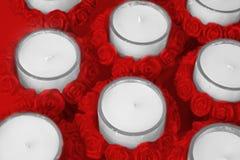 Supports de bougie de Rose Photo libre de droits