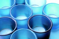Supports de bougie en verre Images stock
