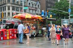 Supports de nourriture de New York Photographie stock libre de droits