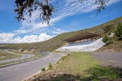 Supports du circuit de courses d'automobiles de Yahuarcocha Images libres de droits