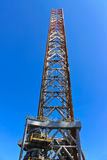Supports offshore drilling rig Stock Images