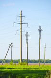 Supports for overhead power transmission lines royalty free stock images