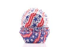 Supports patriotiques de gâteau des Etats-Unis Image stock