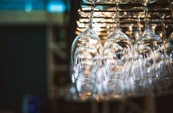 Supports pour des verres de vin Image libre de droits