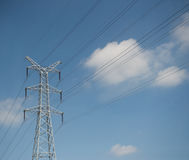 Supports power lines Royalty Free Stock Photography