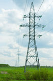 Supports for power lines Royalty Free Stock Images