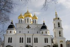 1507 1533 suppositions ont établi des ans de cathédrale Kremlin dans Dmitrov, ville antique dans la région de Moscou Image stock