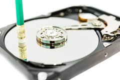 Suppression des données du disque dur Photo stock