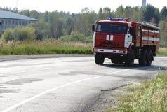 Suppression des incendies et aide aux victimes de mine Photographie stock