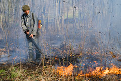 Suppression of Forest Fire 41 Royalty Free Stock Photo