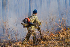 Suppression of forest fire 91 Stock Images