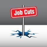 Suppressions d'emplois Photographie stock libre de droits