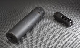 Suppressor and adapter Stock Images