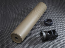 Suppressor and adapters Royalty Free Stock Photos