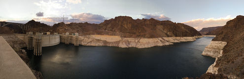 Supr Panoramic Hoover Dam Lake Mead Colorado River Hydro-Electric Royalty Free Stock Photos